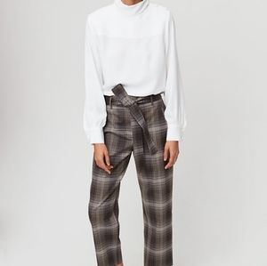 Plaid Wilfred Front Tie Pants